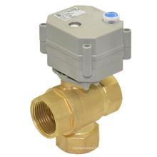 3 vías 1 '' Válvula de control eléctrico con funcionamiento manual (T25-B3-B)