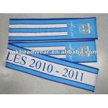 100% poliéster impreso bufanda de fútbol