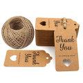 Custom Hang Tags Design Thank You Kraft Gift Tags For Wedding