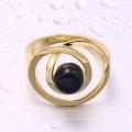 Китай производитель ювелирные изделия черный жемчуг кольцо золотое кольцо для девочки