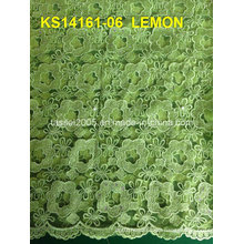 Hot Sale New Sample Fujian Factory Pink Swiss Voile Lace Type Thailand Cord Lace Fabric