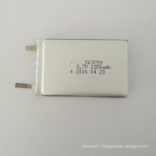 503759 Rechargeable 3.7V 1200mAh Li-Polymer Battery