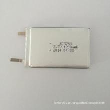Bateria de íon de lítio de 3.7V 1200mAh 503759 Bateria de polímero de lítio