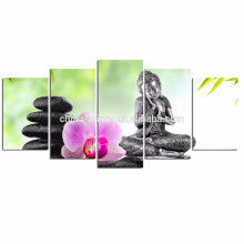 Современное искусство Будда Живопись / Спа Стоун Дзэн Искусство / Настенные украшения Орхидея Холст Печать