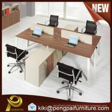 melamine 4 seat desktop office workstation