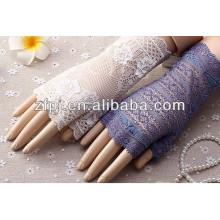 Damen-Antrieb verhinderte sich in UV-Schutz kurze Spitzenhandschuhe