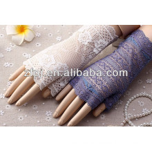 Ladies drive prevented bask in uv protection short lace gloves