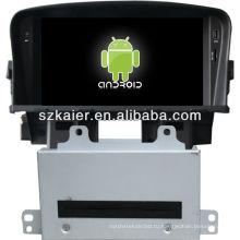 4.2 система версия андроида автомобиля DVD-плеер для Chevrolet Cruze с GPS,есть Bluetooth,3G и iPod,игры,двойной зоны,управления рулевого колеса