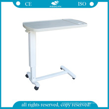 AG-Obt002 ABS Krankenhauspatient über Bett-Tabellen mit vier Rollen
