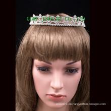 Fertigen Sie Haar-Zusatz-Tiaras Rhinestone-Krone besonders an