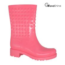 Женская мода PVC Rain Low Boot