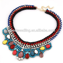 2014 European Trendy Ladies Colorful Diamond Alloy Turkish Necklace