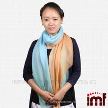 Best-selling ladies stole scarf shawl 100%wool ombre scarf