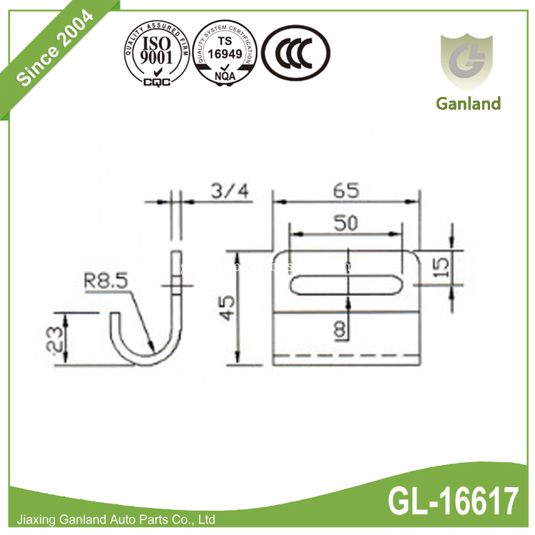 hook for tie down GL-16617