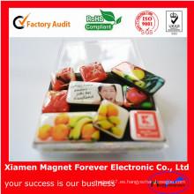 Imán del refrigerador de la fruta del caucho suave del recuerdo de la publicidad como regalo de la promoción