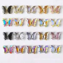 New 3D Aurora Crystal Butterfly Nail Art Rhinestones Super Flash Crystal Butterfly Nail Accessories