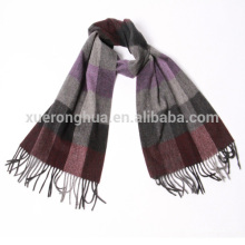 inner mongolian mens cashmere scarves in plaid