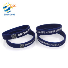 cheap Eco-friendly Customized qr code silicone bracelet