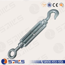 Hot Sale Galvanized DIN1480 Wire Rope Turnbuckle Eye and Hook