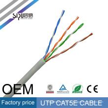 SIPU china precio bajo 305 m lan 4pr 24awg utp cable cat5 cable de red