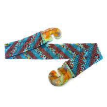 Wooden Buckle indian beaded belts