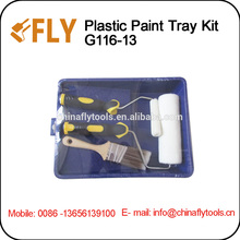 4 pcs Plastic Paint Tray Set