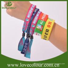 Fabrik professionelle benutzerdefinierte billige Armbänder / Textilgewebe Armband