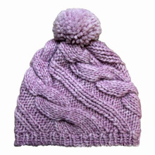 Damenmode POM POM Wolle gestrickte Winter warme Mütze (YKY3106)