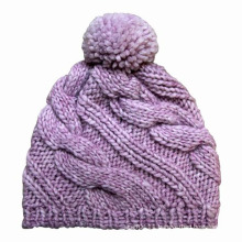 Lady Fashion POM POM Wool Knitted Winter Warm Beanie (YKY3106)