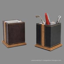 Supports décoratifs en caoutchouc en cuir cousu