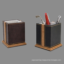 Decorative Stitched Leather Pen Holders