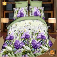 Conjunto de cama de algodão 3D, sensação de mão macia, cama tecida