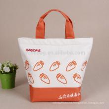 La comida campestre reutilizable aisló la bolsa de asas promocional más fresca del refrigerador del almuerzo del poliéster