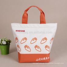Piquenique Reutilizável Isolado Impresso Poliéster Almoço Refrigerador Sacola Promocional Saco De Supermercado