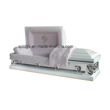 Branco sombreado caixão de fim-de-rosa