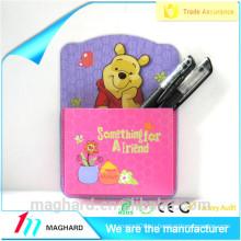 Изготовленный на заказ шарж мультфильма магнитный карманный карман для холодильника