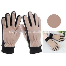 изготовленный на заказ unisex флисовые перчатки с вышивкой