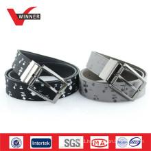 Print Reversible Buckle Men PU Belt