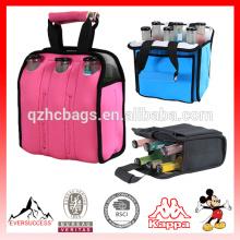 Handled beer bottle cooler bag water bottle cooler bag and 6 pack Beer tote bag