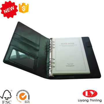PU file office notebook dengan logo stamping