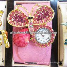 Heiße Verkaufs-Frauen lederne breite Wristband-Schmucksache-Uhren für Förderung WW51