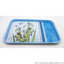 Rectangular tin tray, tin table tray