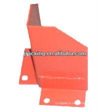 Protetor vertical do borne da armação de canto da base de Jracking para o racking da pálete