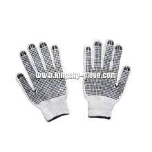 7g String Knitted PVC Double Dotted Glove (2407)