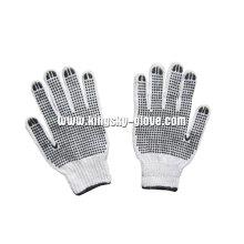 7г строку трикотажные перчатки ПВХ двойной Пунктирной (2407)