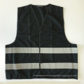 Cheap black reflective safety vest printing customizable with EN 20471 reflective tape
