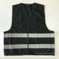 Cópia reflexiva preta barata da veste da segurança customizável com a fita reflexiva EN 20471