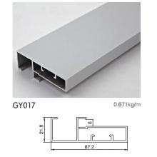 Perfil de alumínio para armário de cozinha com barra de alça