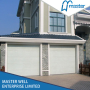 Wholesale Overhead Residential Insulated CE Approved PU Foamed Galvanized Steel Garage Doors Panels Prices with Aluminum Accessories and Small Windows Inserted