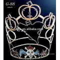 New rhinestone large 2015 latest pumpkin tiara halloween crowns